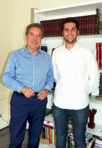 Iñaki Gabilondo tras una entrevista en los estudios de Prisa Radio (septiembre 2014)